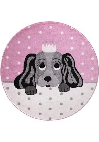 Festival Kinderteppich »Candy 156«, rund, 11 mm Höhe, Motiv Hund kaufen