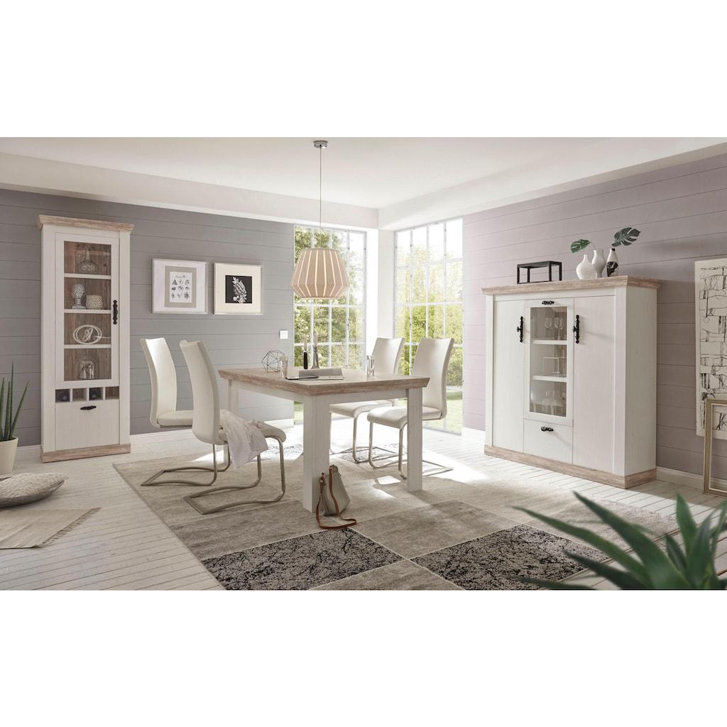 Home affaire Vitrine »Florenz«, im romantischen Landhaus-Look, Höhe 201 cm