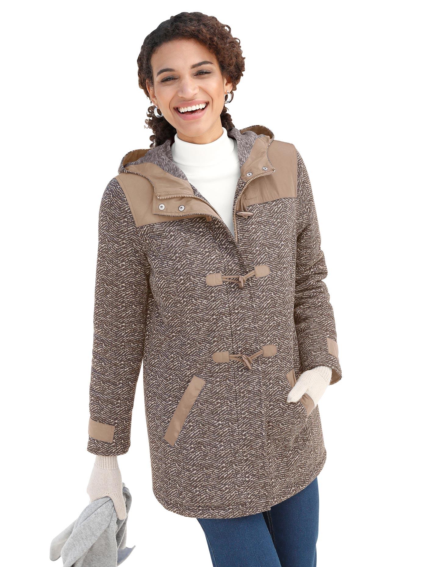 Casual Looks Jacke aus hochwertig garngefärbtem Strick-Fleece   Bekleidung > Jacken > Sonstige Jacken   Casual Looks