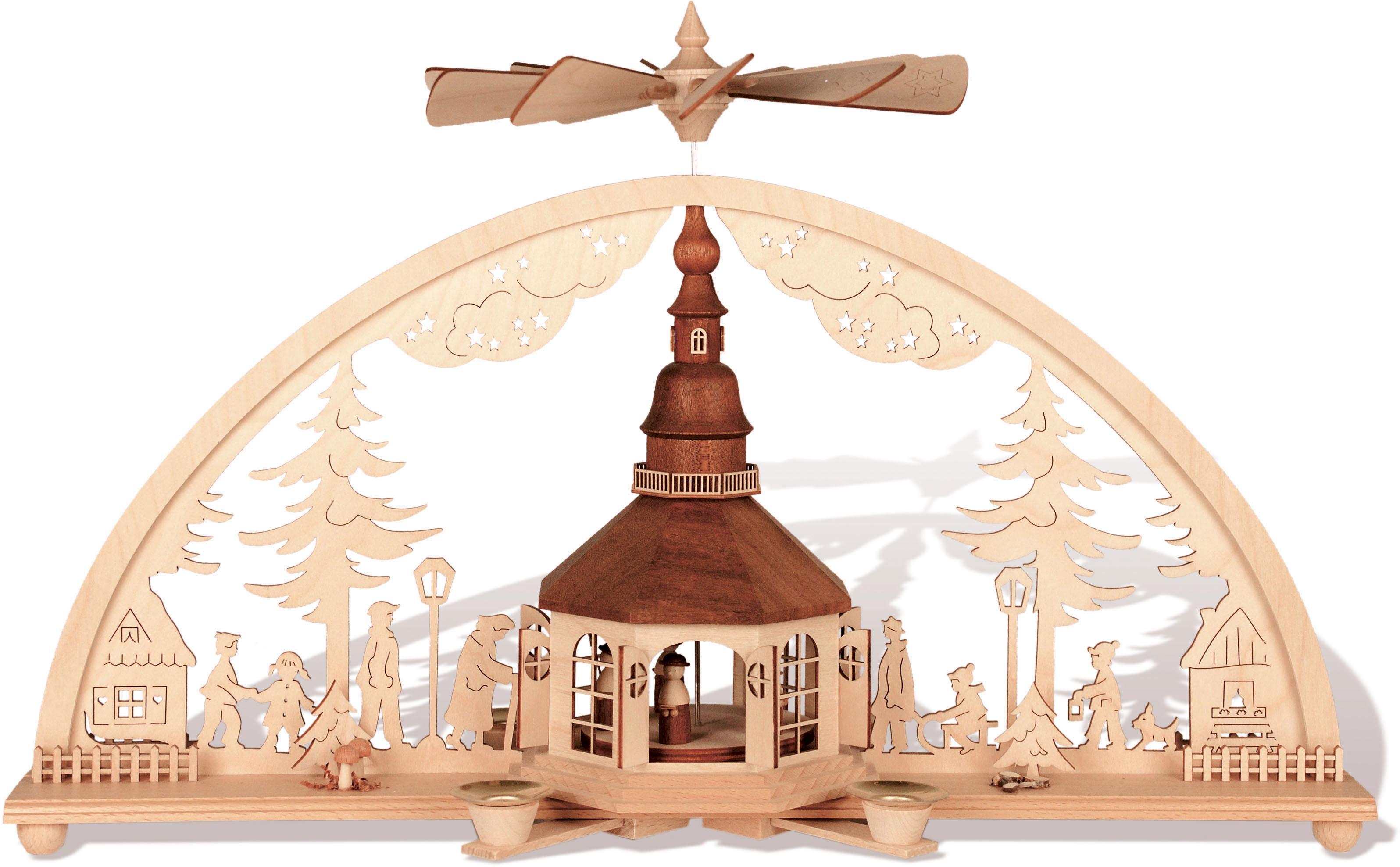 Weihnachtsbeleuchtung Außen Bogen.Rauta Schwibbogen Seiffener Kirche Im Bogen 1 Teilig Online Kaufen Baur