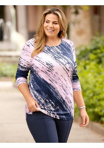m. collection T-Shirt, mit raffiniertem Diagonalstreifen kaufen