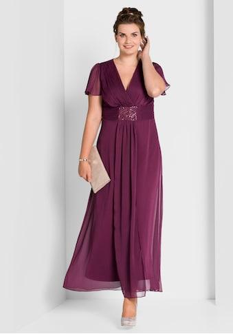 Sheego Abendkleid, mit Schmuckbrosche kaufen