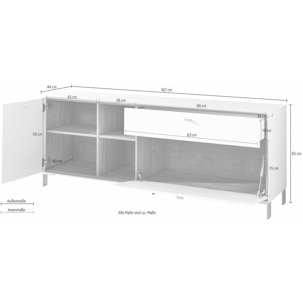 GERMANIA Lowboard »Design2«, Breite 167 cm