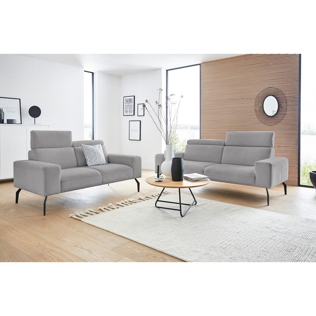 DOMO collection 2-Sitzer »Lucera«, inklusive Kopfteilverstellung, wahlweise mit Rückenverstellung