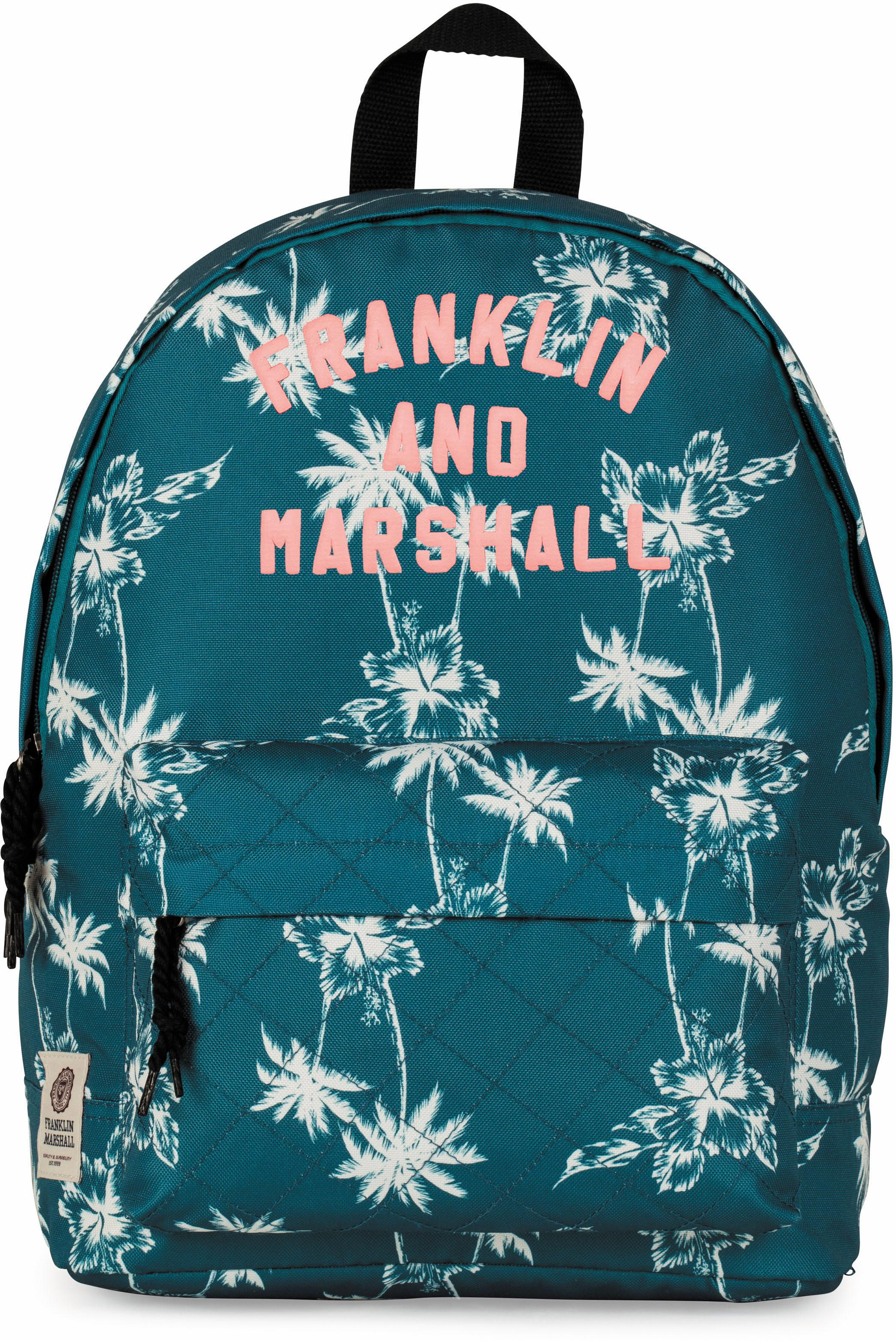 Franklin & Marshall Rucksack Girls Palmen petrol Preisvergleich