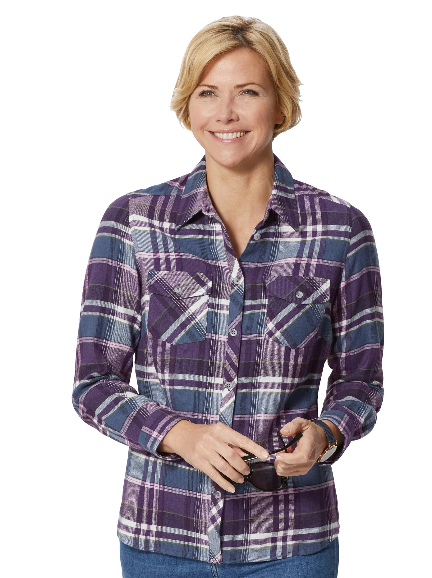 Bluse in Flanell-Qualität