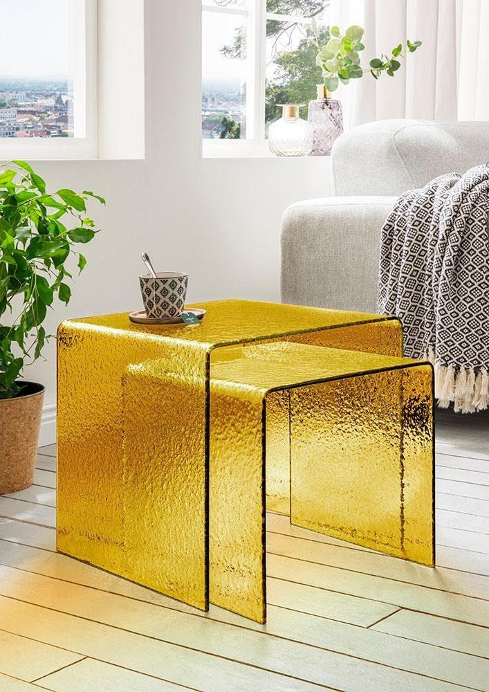Paroli Beistelltisch, (Set, 2 St.), quadra gelb Beistelltische Tische Beistelltisch