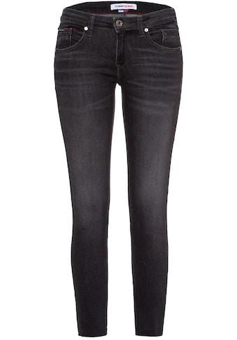 Tommy Jeans Skinny-fit-Jeans »SCARLETT LR SKNY ANKLE AE170 BKS«, mit leichten... kaufen