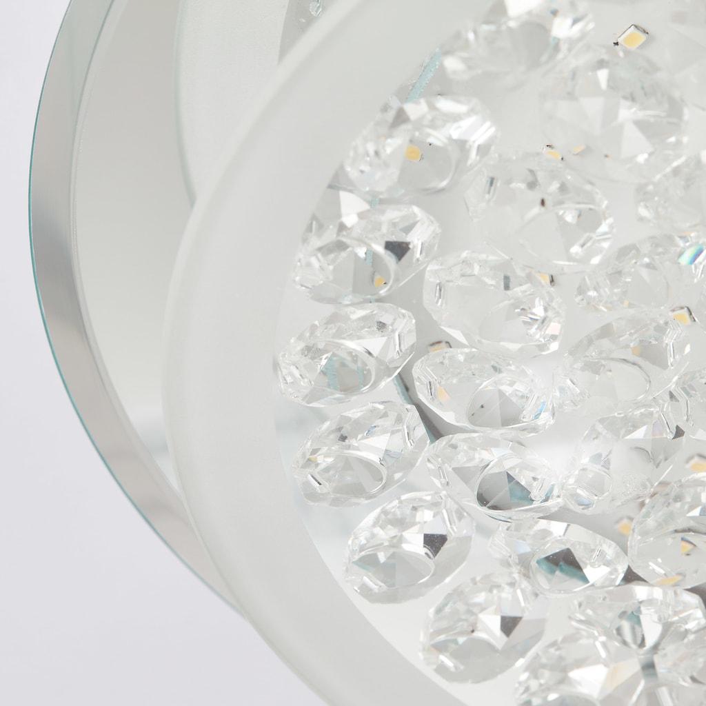 BreLight Jolene LED Wand- und Deckenleuchte 28cm chrom/transparent