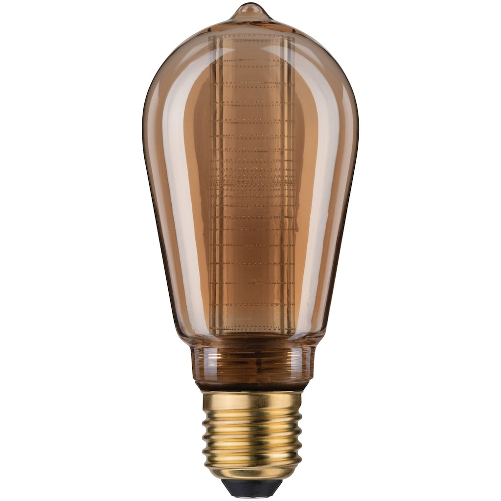 Paulmann LED-Leuchtmittel »2er Pack 4W Innenkolben ring E27 gold 1800K«, E27, 2 St., Extra-Warmweiß