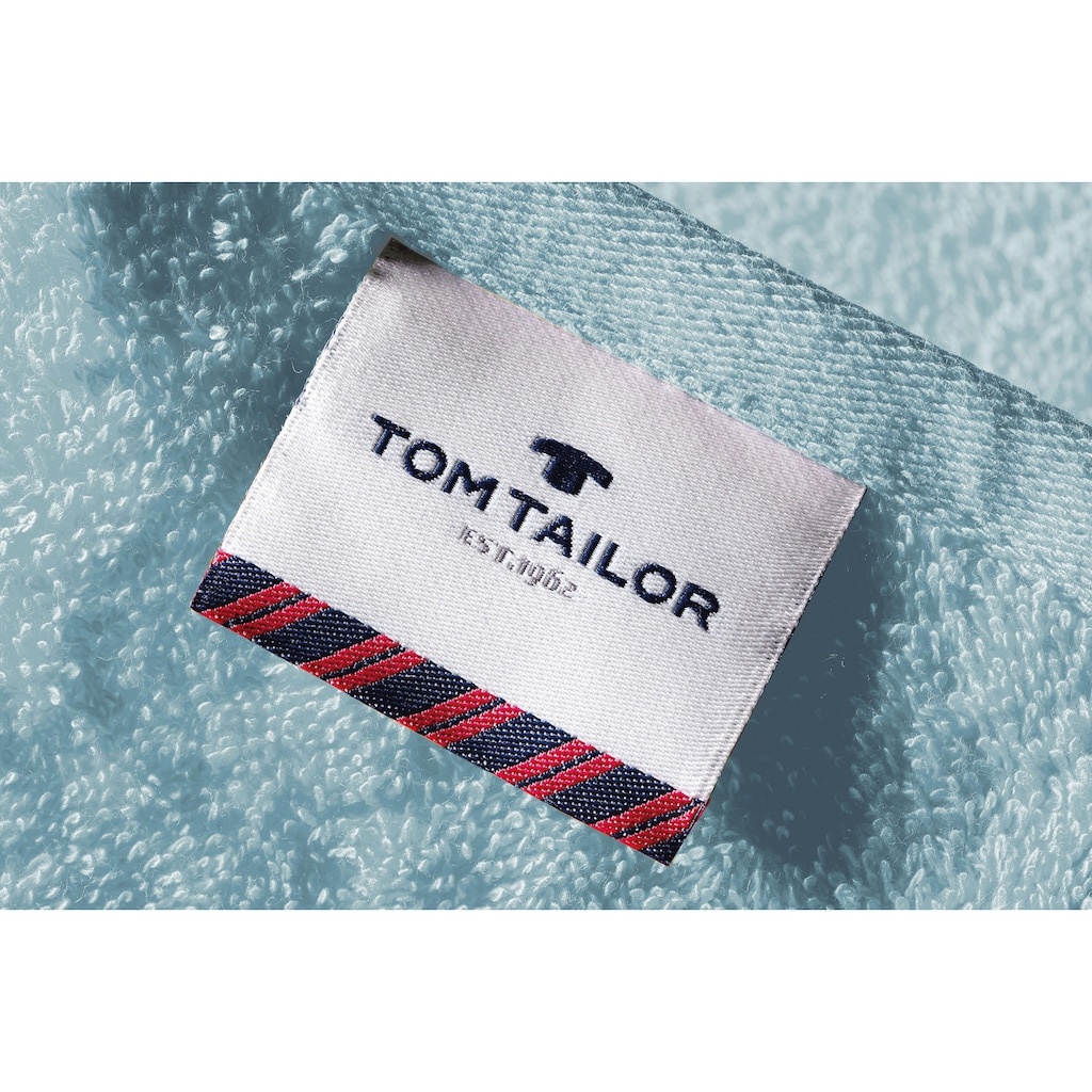 TOM TAILOR Handtücher »Uni«, (2 St.), (2 Stück) mit Logo in Bodüre