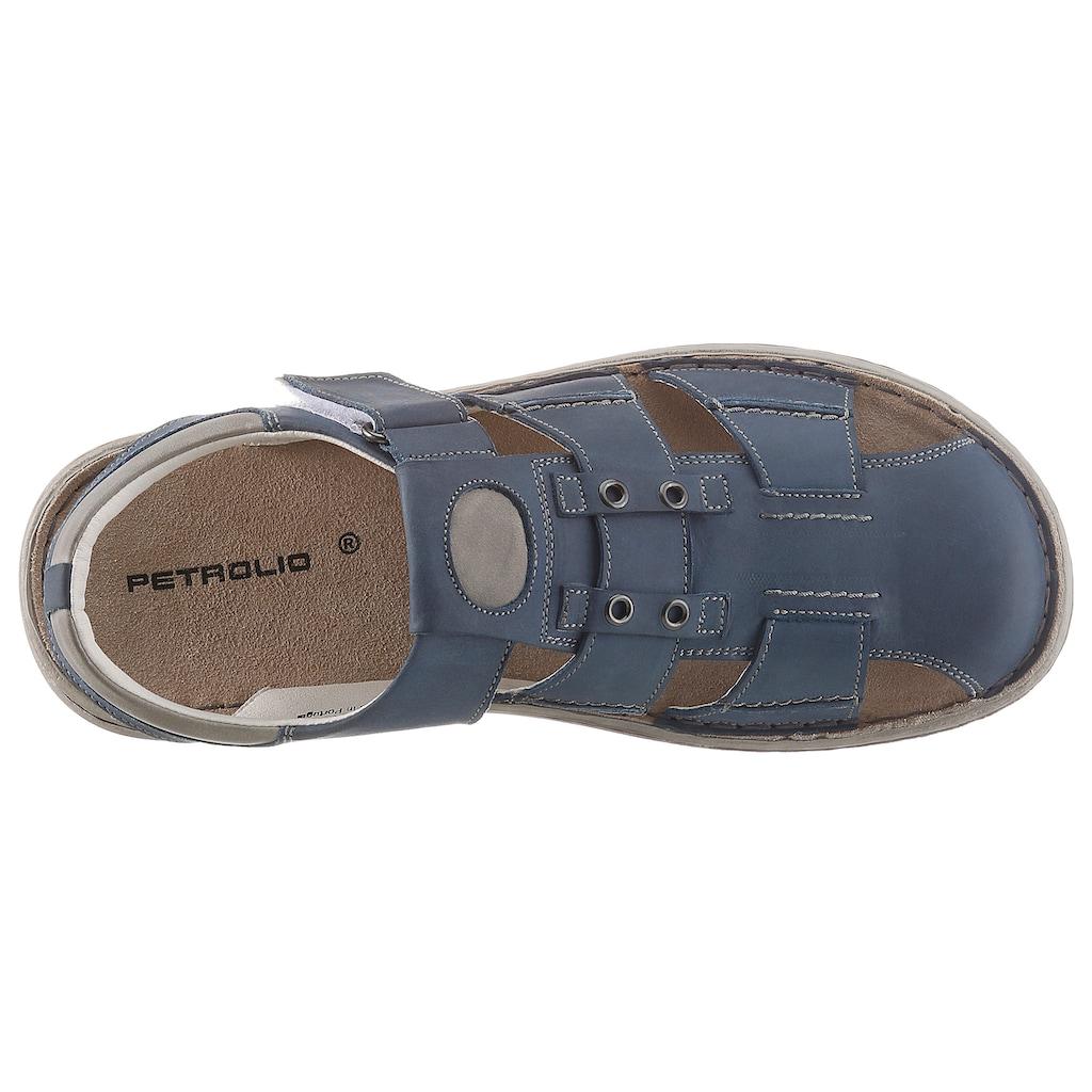 PETROLIO Sandale, mit Ziernähten
