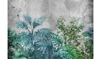 Consalnet Vliestapete »Pflanzen auf Beton«, floral kaufen