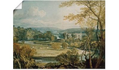 Artland Wandbild »Blick zur Bolton Abbey, Yorkshire. 1809« kaufen