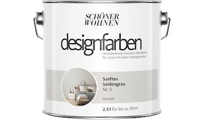 SCHÖNER WOHNEN FARBE Farbe »Designfarben«, Sanftes Seidengrau Nr. 5, feinmatt 2,5 l kaufen