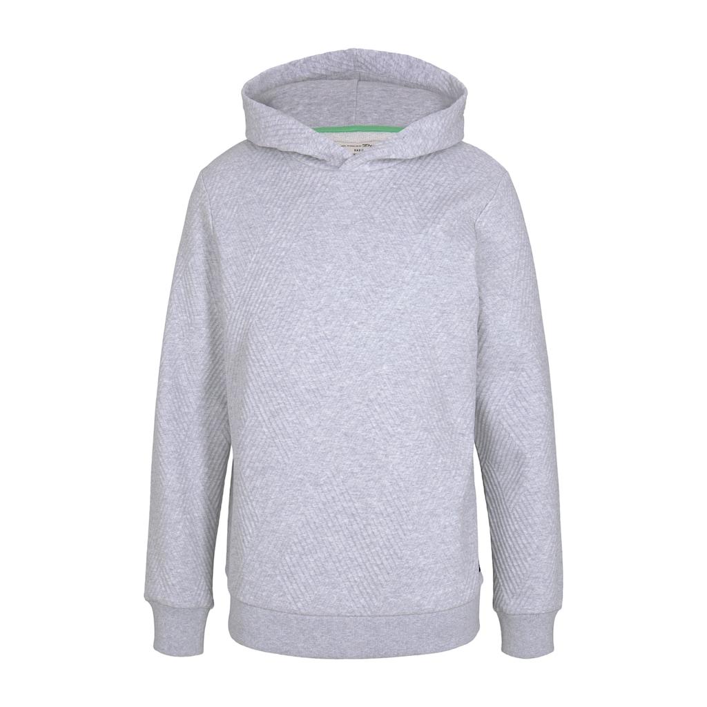 TOM TAILOR Denim Kapuzensweatshirt »Hoodie mit Strukturmuster«