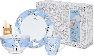 "Könitz Kindergeschirr - Set ""Colour your own Christmas"" (3 - tlg.), Porzellan kaufen"
