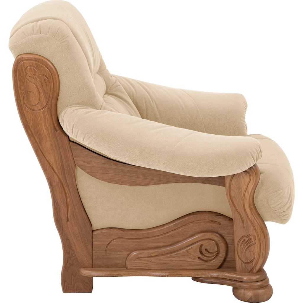 Max Winzer® Sessel »Texas«, mit dekorativem Holzgestell