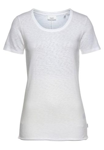 Marc O'Polo DENIM Rundhalsshirt, mit modischer geschittener Saumkante kaufen
