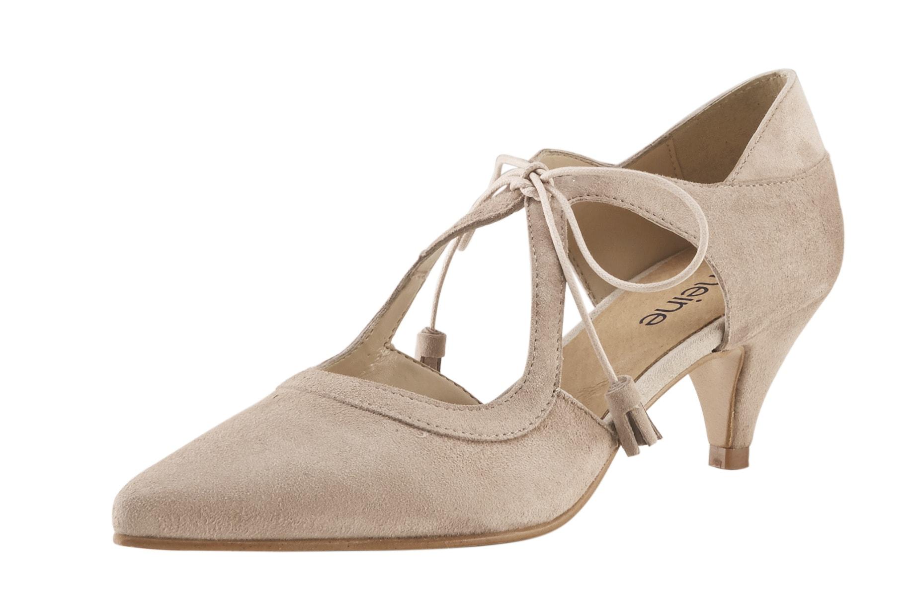 Schnürpumps mit individueller Schnürung | Schuhe > Pumps > Schnürpumps | heine