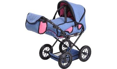 "Knorrtoys® Puppenwagen ""Ruby  -  jeans blue"" kaufen"