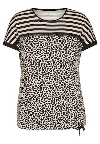 Rabe T-Shirt, mit Glitzersteinen und exotischem Muster-Mix kaufen
