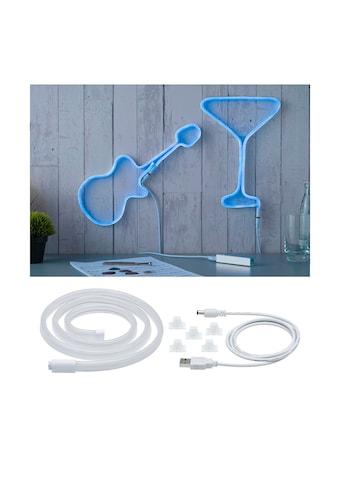 Paulmann LED-Streifen »Neon Colorflex USB Strip Blue 1m 4,5W 5V weiß Kunststoff«, 1... kaufen