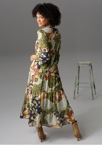 Aniston CASUAL Maxikleid, mit Blumen- oder Patchdruck - du hast die Wahl - NEUE... kaufen