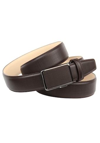 Anthoni Crown Ledergürtel, Stufenlose Ledergürtel für gehobene Outfits kaufen