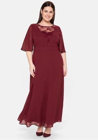 Sheego Abendkleid, in Maxilänge, mit Spitzeneinsatz kaufen