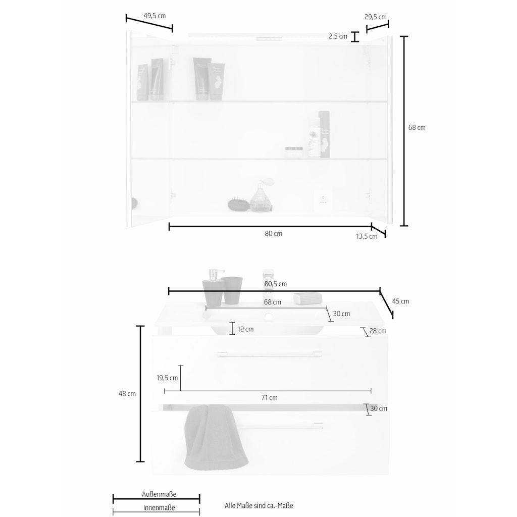 MARLIN Badmöbel-Set »Sola 3130«, (Set, 2 St.), vormontiert