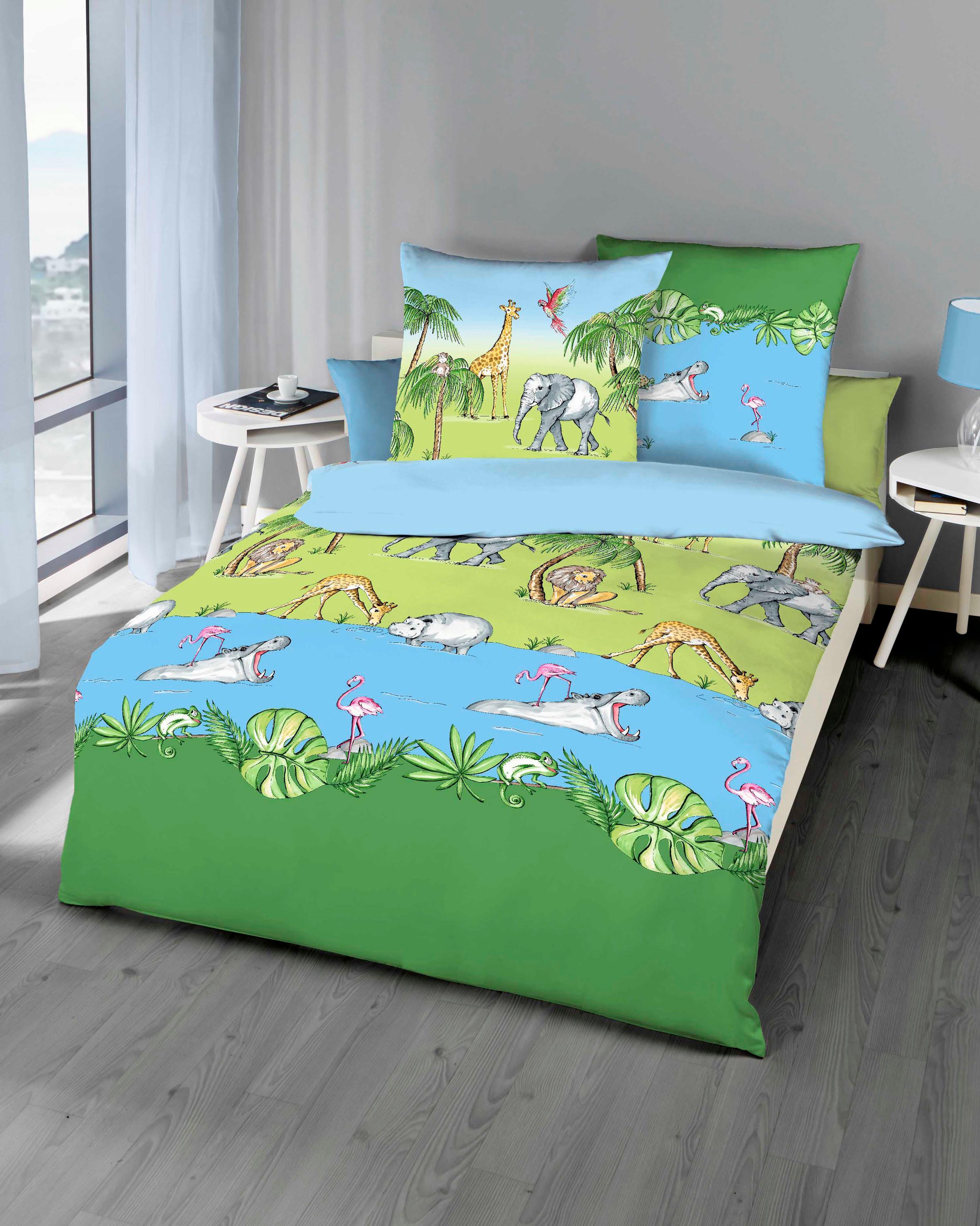 Kinderbettwäsche Dschungel Kaeppel