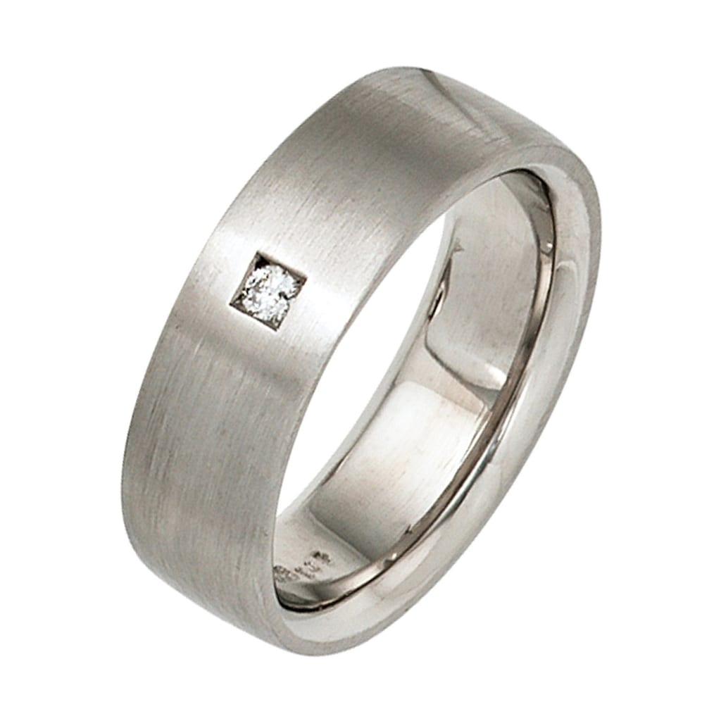 JOBO Diamantring, 925 Silber mit Diamant