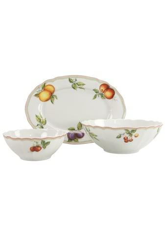 """CreaTable Servier - Set """"Flora Orchard"""", Porzellan, (Set, 1 Platte, 2 Schüsseln) kaufen"""