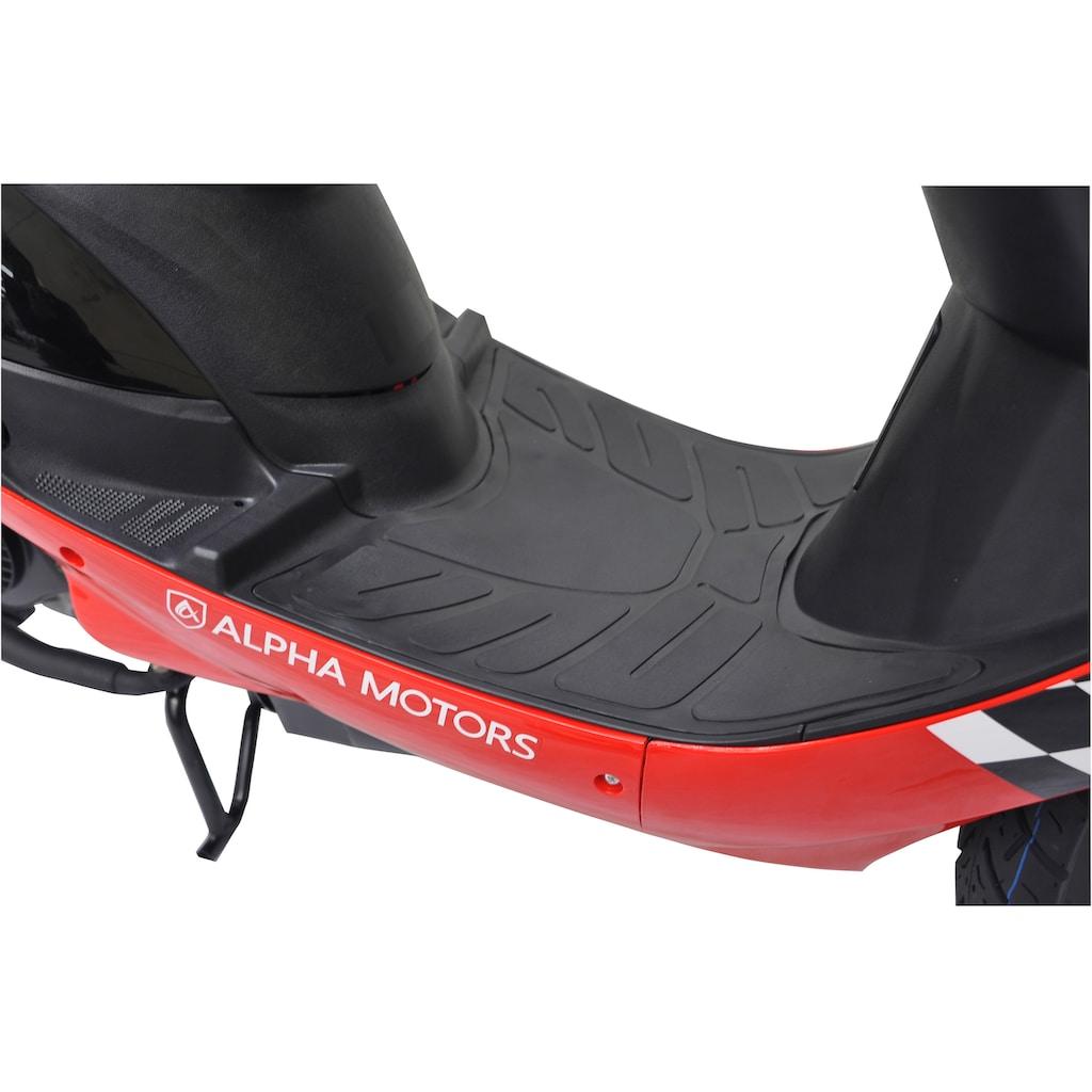 Alpha Motors Motorroller »Cityleader«, 2,5 PS, 50 ccm, 45 km/h, rot inkl. Topcase