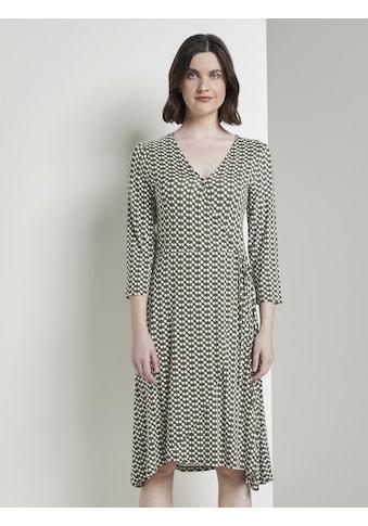 TOM TAILOR Jerseykleid »Gemustertes Jersey - Wickelkleid« kaufen