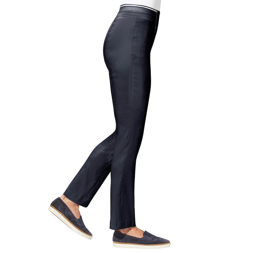 Classic Basics Stretch-Hose in glatter Bengalin-Qualität