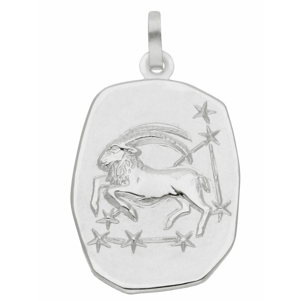Adelia´s Kettenanhänger »925 Silber Sternzeichen Anhänger Steinbock«