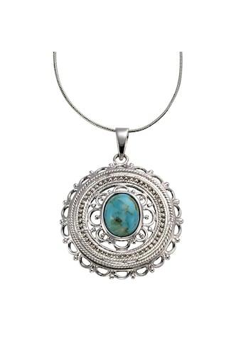 Zeeme Anhänger mit Kette »925/ -  Sterling Silber rhodiniert Türkis« kaufen