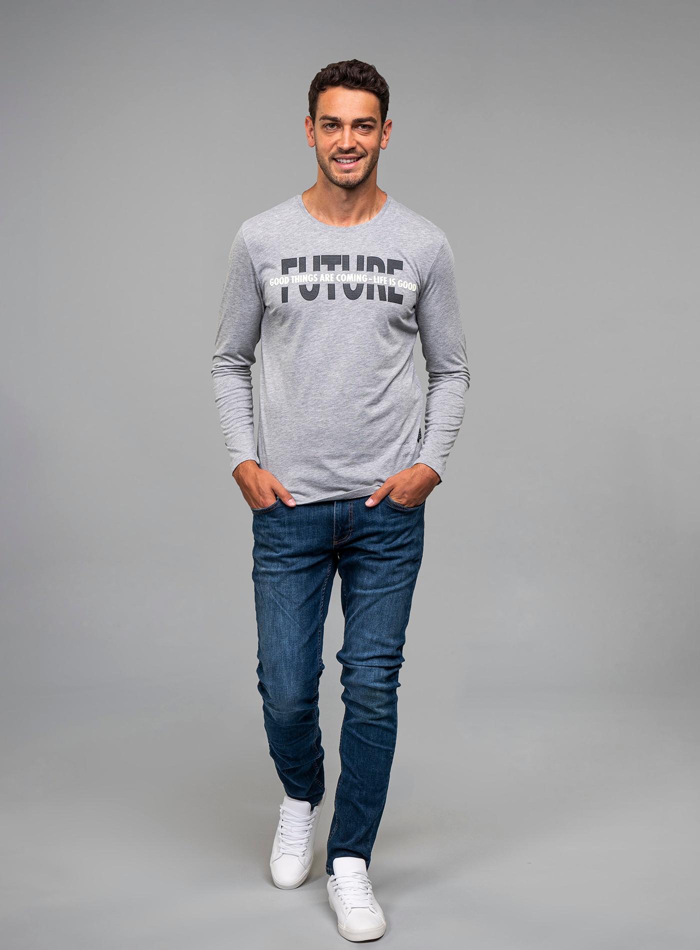 key largo -  Langarmshirt, mt modischem Frontprint