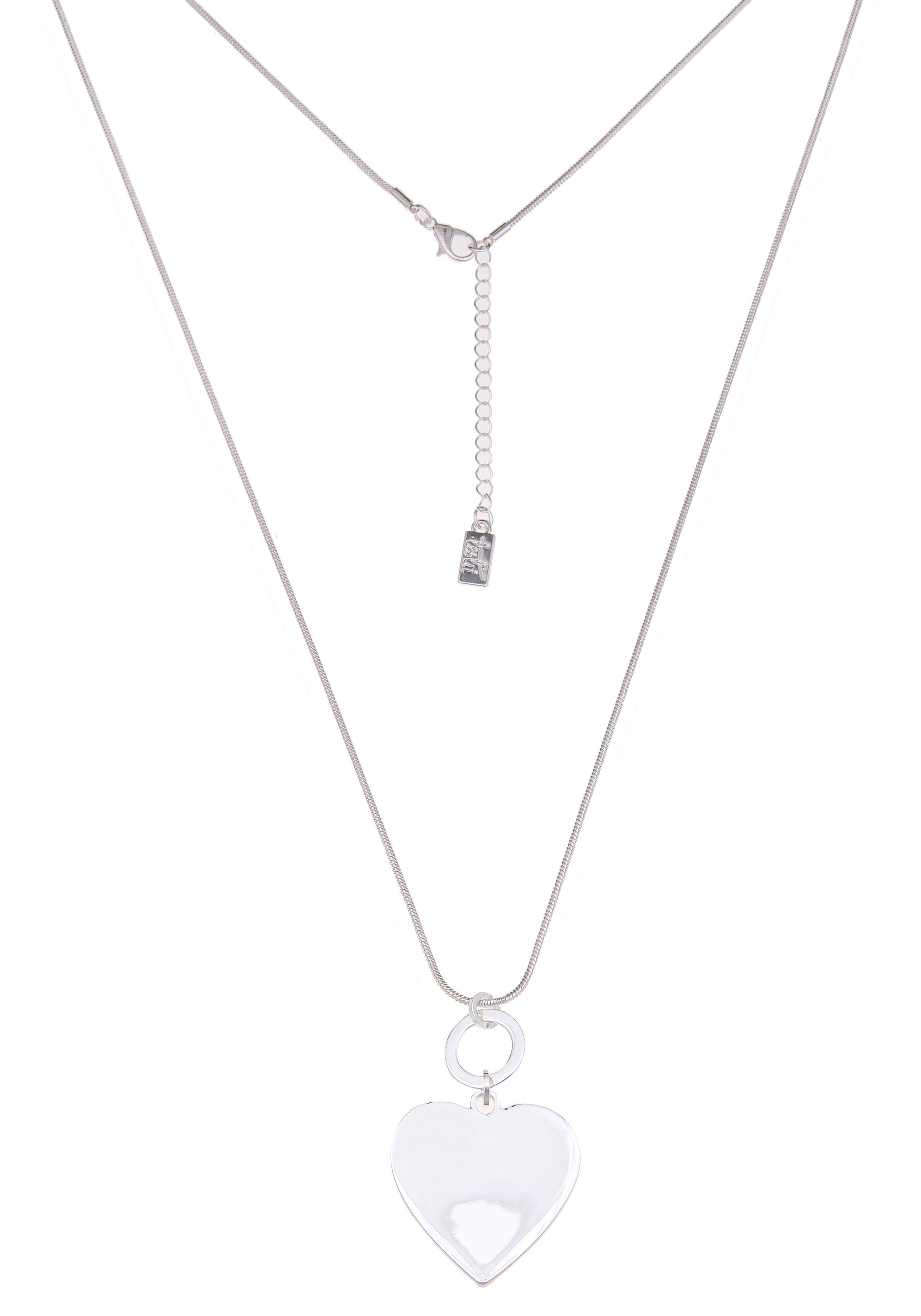 leslii Kette mit Anhänger Trend-Herz in Silber 220115895 | Schmuck > Halsketten > Silberketten | Leslii