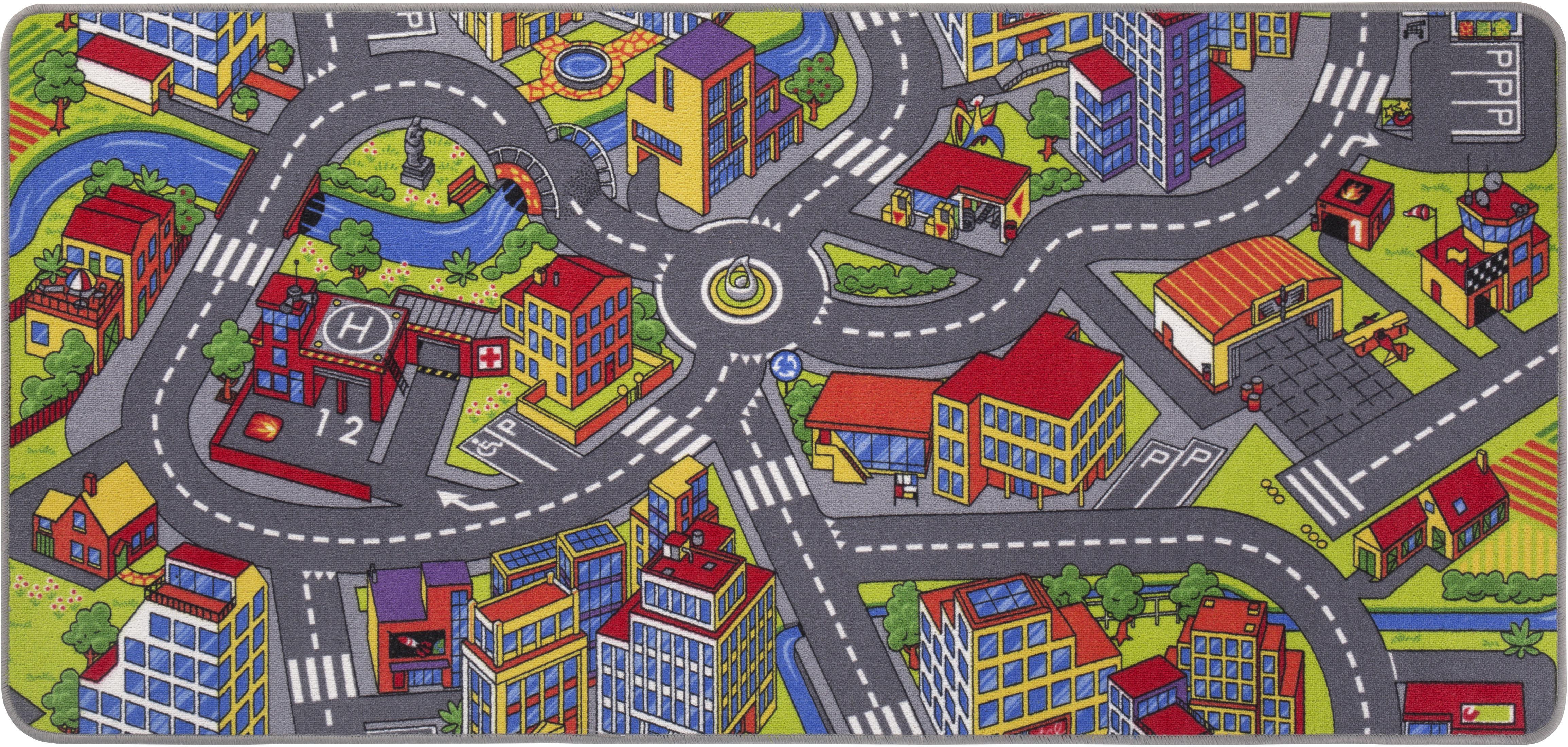 Kinderteppich, Straße, Andiamo, rechteckig, Höhe 5 mm, maschinell getuftet bunt Kinder Bunte Kinderteppiche Teppiche