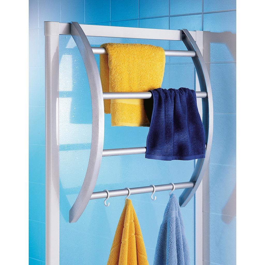 Ruco Handtuchhalter, Kunststoff/Aluminium, Befestigung ohne Bohren - einfach einhängen