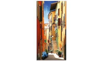 Artland Glasbild »Altstadtgasse Riva del Garda«, Architektonische Elemente, (1 St.) kaufen