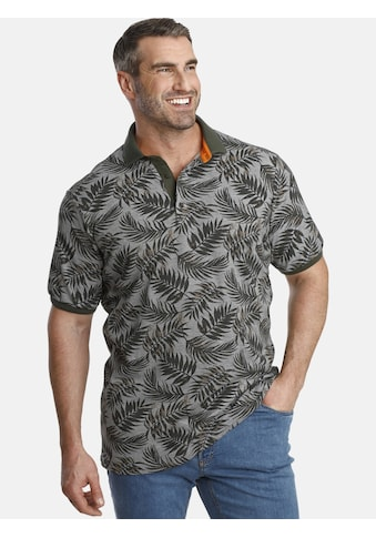 Charles Colby Poloshirt »EARL ANGUS«, Blätterdruck auf Pikee kaufen