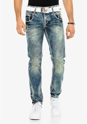 Cipo & Baxx Bequeme Jeans, in bequemem Regular Fit-Schnitt kaufen