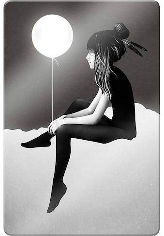 Glasbild »Ireland  -  No such thing as nothing by night  -  leuchtender Ballon« kaufen