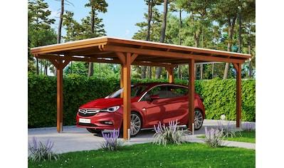 Skanholz Einzelcarport »Emsland«, Leimholz-Nordisches Fichtenholz, 291 cm, braun kaufen