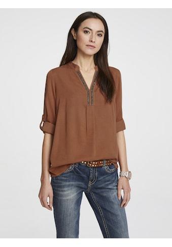 Bluse mit Schmuckbesatz kaufen