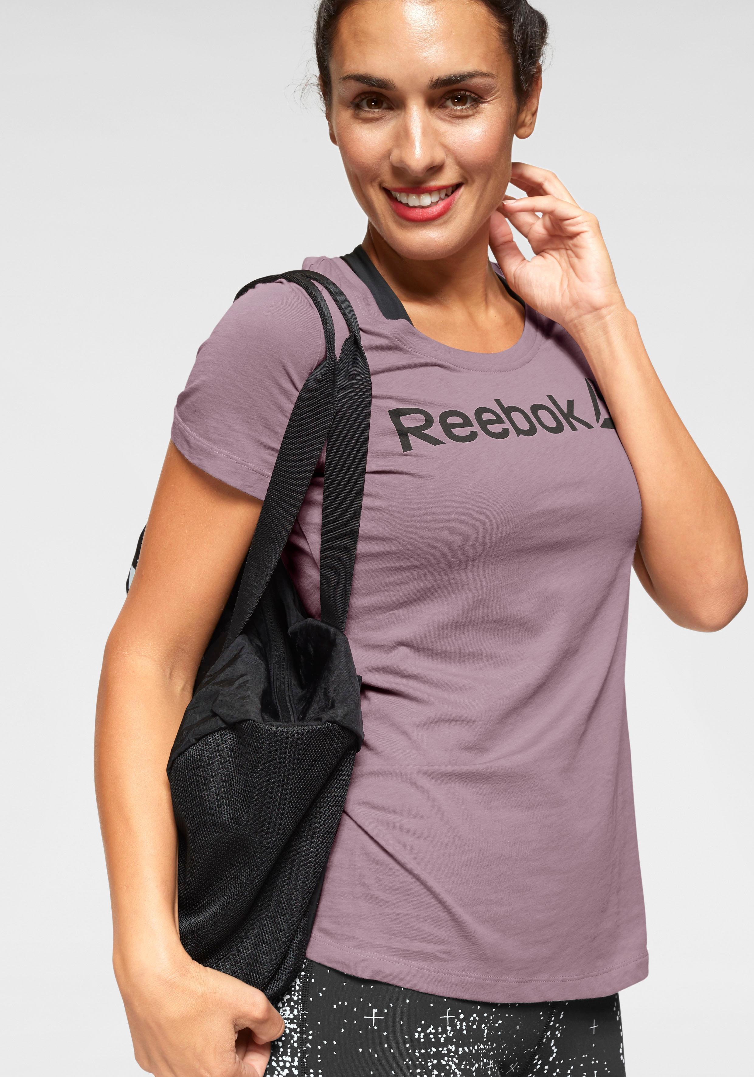 Reebok T-Shirt REEBOK LINEAR READ lila Damen T-Shirts